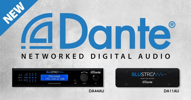 Our latest Dante solutions are now in stock and shipping! Find out more - https://www.blustream.co.uk/dante-audio-solutions … @smarthomees #audiointegration @AVTechnologyMag @AVMag @AVForumspic.twitter.com/KiTXb5zNKx