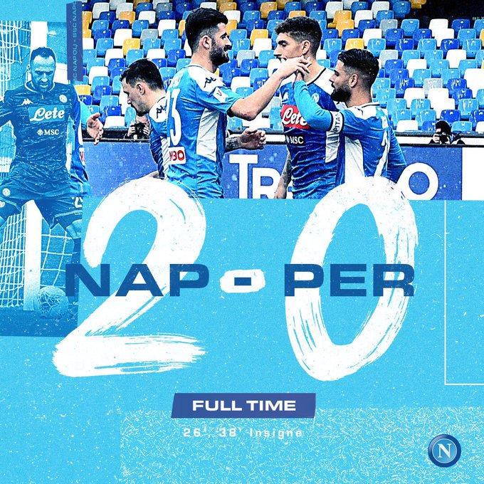 Hasil Napoli vs Perugia