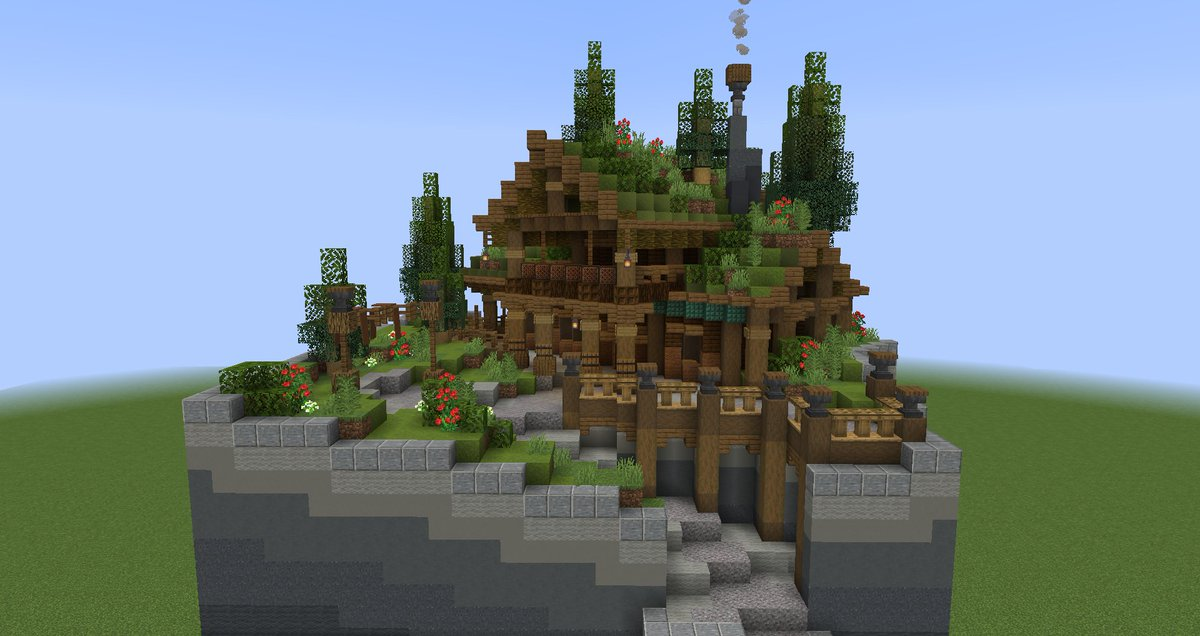 Pearlescentboo Pa Twitter Roughly Inspired By Particular Norwegian Homes With Nature Roofs Here S Day 2 1 Of My Minecraft Abuildaday Challenge The Reference I Found Was A Bit Of A Wood Cabin