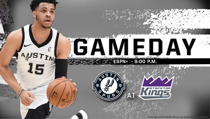 GAMEDAY!!  🏀 @StocktonKings  🕖 9 p.m. CT 📍 Stockton, CA 📺 Watch on ESPN+