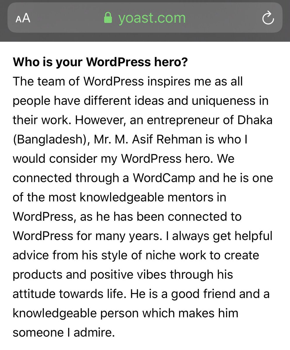 test Twitter Media - I definitely don't deserve this honor, it's my friend @iamchetanp's kindness! 😇 He recently been selected for very prestigious @yoast Care Fund, in his Intro interview he was asked - 'Who is your #WordPress Hero?' Read the interview- https://t.co/VlFoBGNeZg https://t.co/sJuAigll2o