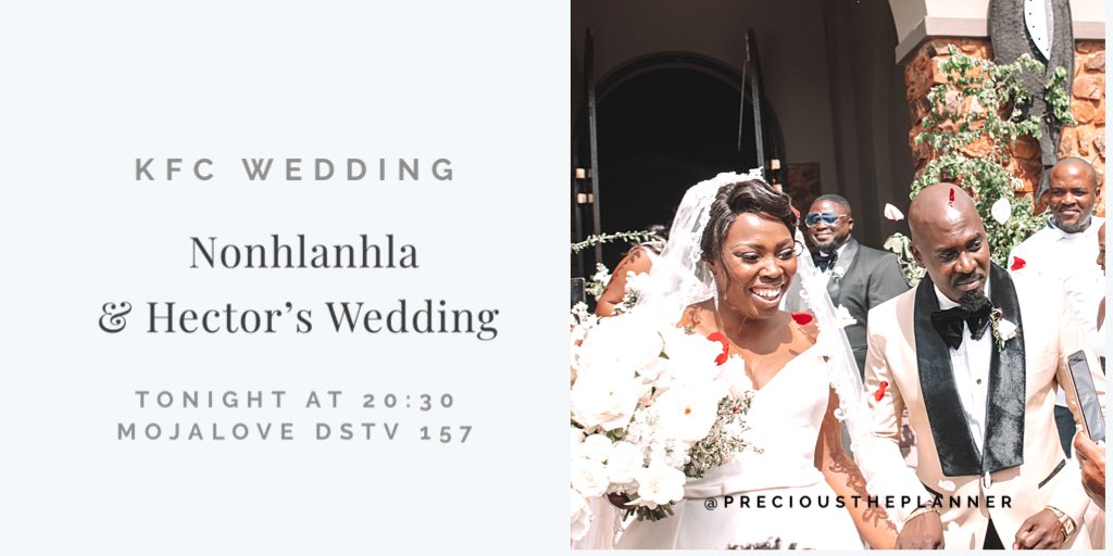 If you missed it #KFCWEDDING repeat on tonight at 20:30pm on @MojaLoveTv channel 157  ___ #precioustheplanner<br>http://pic.twitter.com/1pIJRpwlHb
