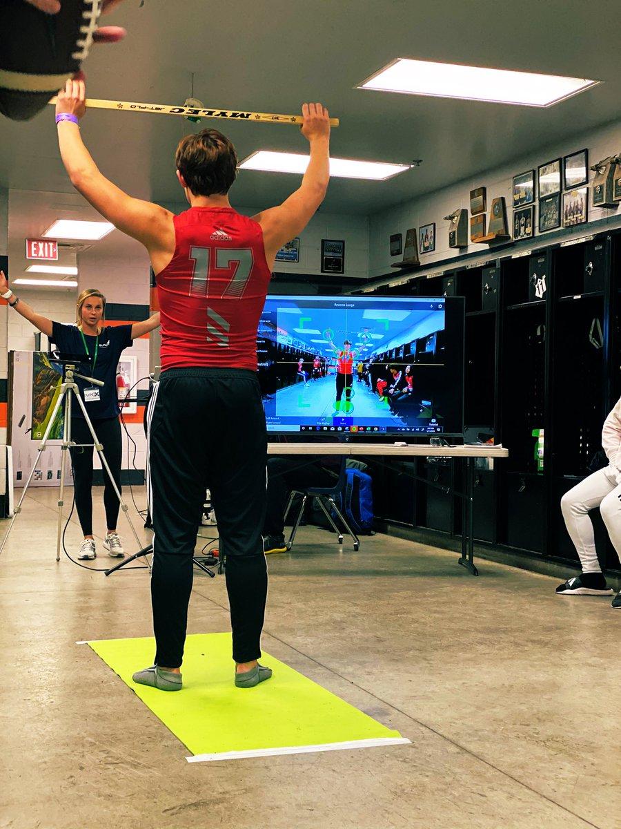 When we said we were a mobile baseline movement data capture system - we meant it! Meeting athletes on the turf, field, court and now the locker room!  @Pylon7on7  #elitex360 #scienceforathletes  #athletedevelopment #injuryprevention #sportsperformance #Pylon7on7 #eliteathletes pic.twitter.com/4XFGfdjsTE