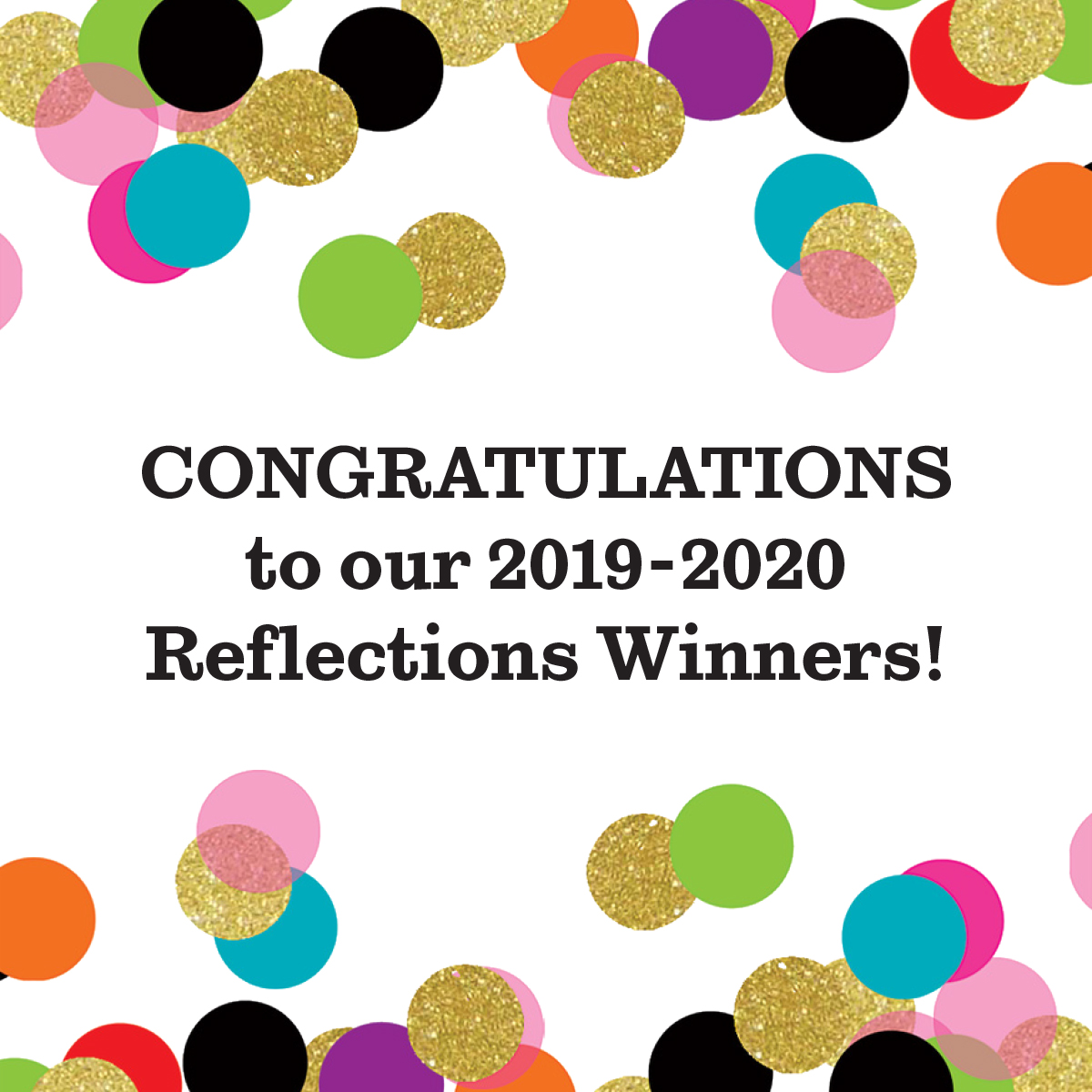 Congratulations to our 2019-2020 Reflections Winners! #PTAReflections #ShowYourArt pic.twitter.com/lEzIOQnEKX