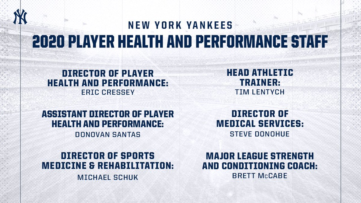 Yankees announce restructured S&C department