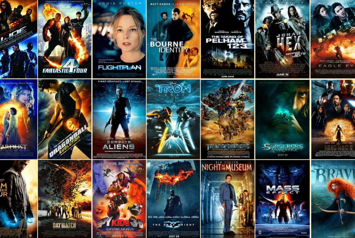 There are only 10 types of movies. (A short thread) 1. Orange and blue action