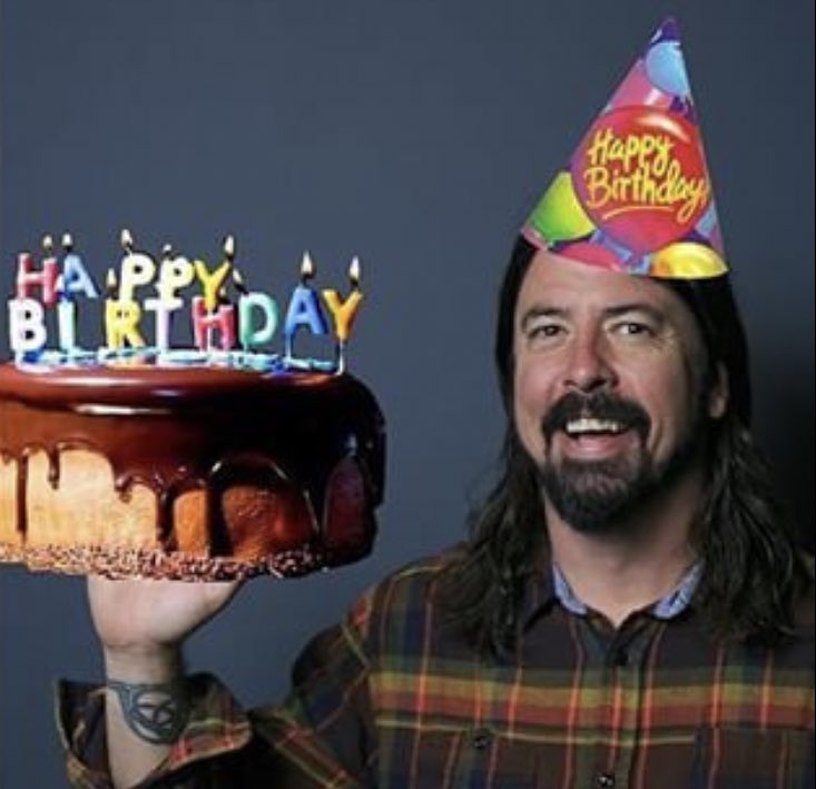 Happy 51st birthday to rock legend and front man, David Grohl!