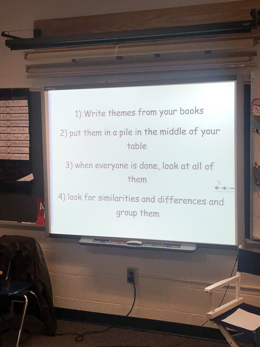 Students worked in their Author Study book clubs to discuss and categorize themes. They worked together to find similarities and differences across their different books <a target='_blank' href='http://search.twitter.com/search?q=hfbtweets'><a target='_blank' href='https://twitter.com/hashtag/hfbtweets?src=hash'>#hfbtweets</a></a> <a target='_blank' href='http://twitter.com/APS_ELA_Elem'>@APS_ELA_Elem</a> <a target='_blank' href='http://twitter.com/APSVirginia'>@APSVirginia</a> <a target='_blank' href='http://twitter.com/APSTitleI'>@APSTitleI</a> <a target='_blank' href='https://t.co/4nBl6UBpST'>https://t.co/4nBl6UBpST</a>