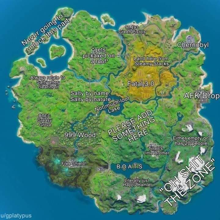 Whats your drop spot? Mine is BTEC Greasy Grove #dropspot #fortnite #fortnitemap
