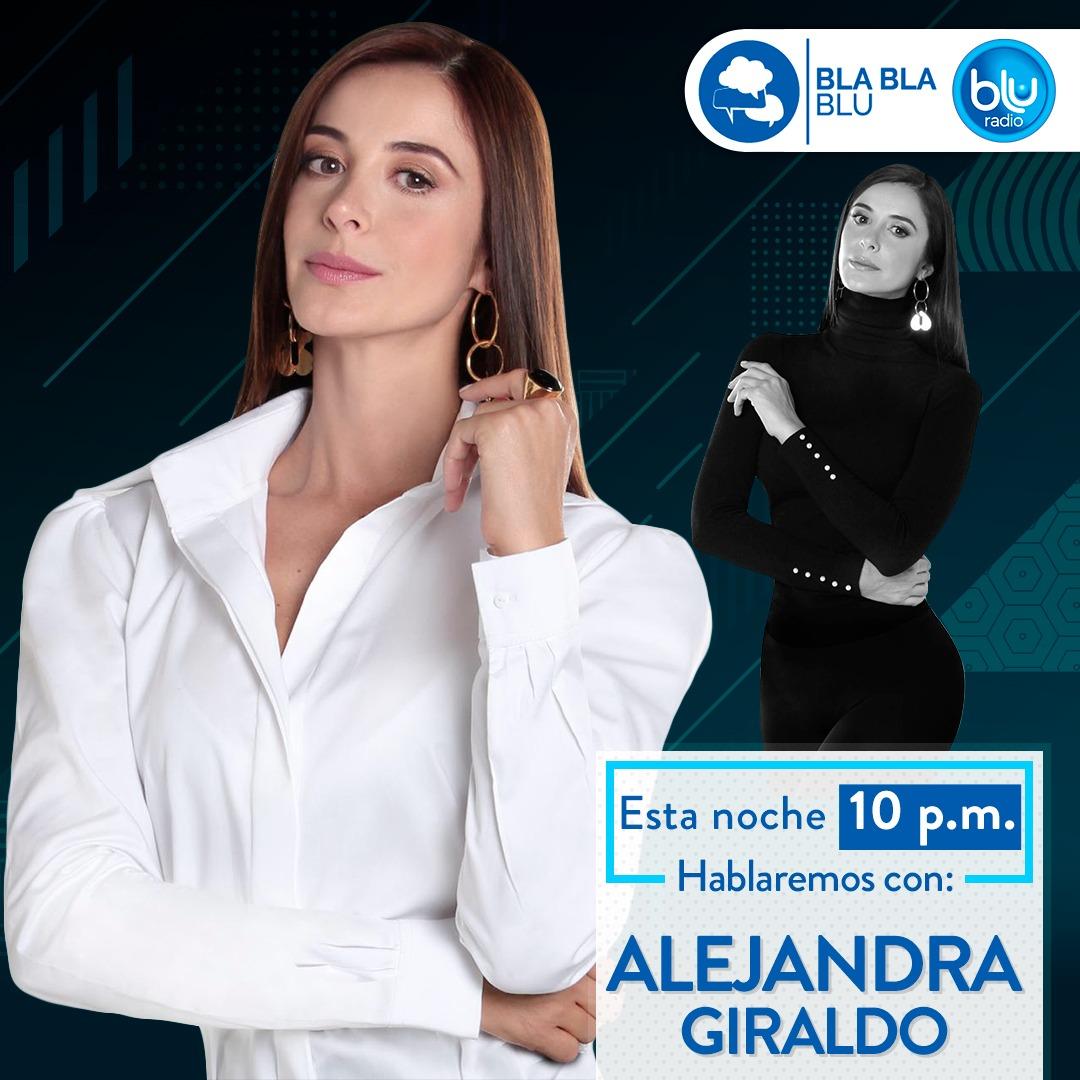 La periodista y presentadora @AleGiraldoP nos acompañará este martes en #BlaBlaBLU.Conéctese con @BluRadioCo a las 10:00 de la noche por http://bit.ly/TmZwk2