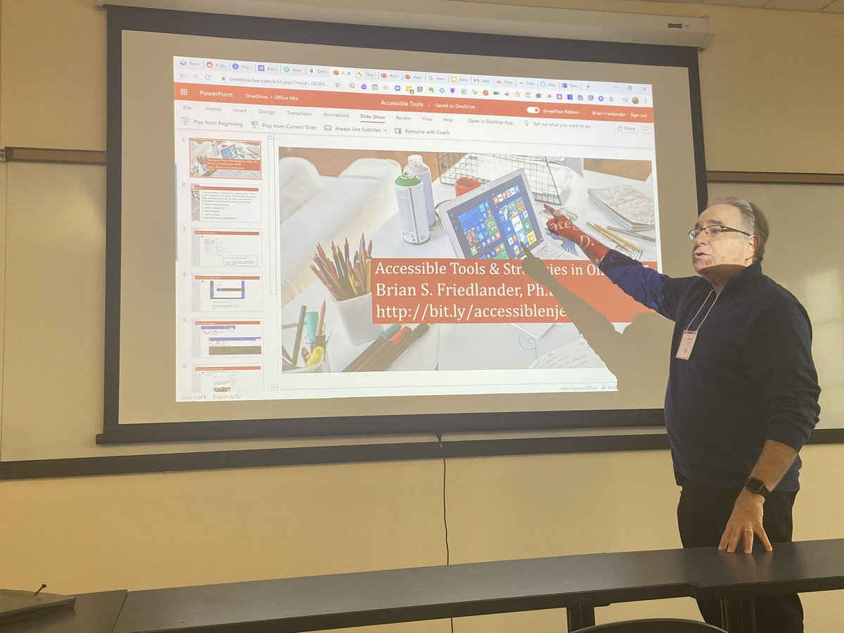 Learning new #AccessibleTools and #Stregies in @Office365 with... @assistivetek!!!!  #njecc2020 #njed #sped #Mircosoft #CrazyPLN @Principal_H #wondertwins<br>http://pic.twitter.com/JOtoJgevOz