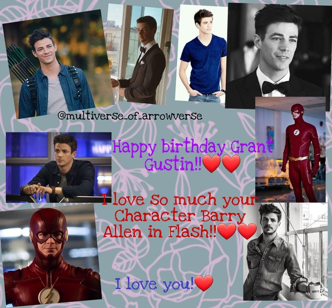 Happy birthday to the one who play my favorite superhero!!     Grant Gustin