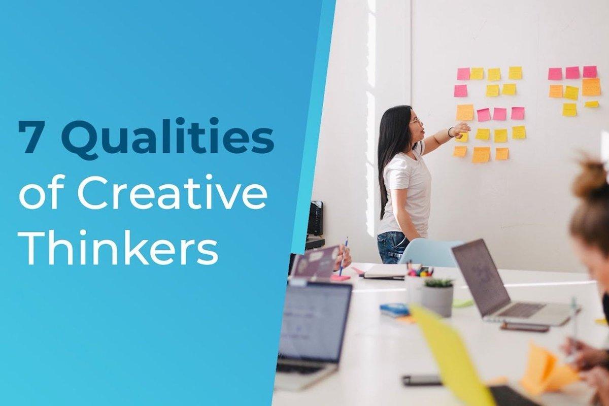 The 7 Qualities of Creative Thinkers buff.ly/36U7D27 #creativethinking #creativity