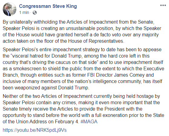 How might a stronger leader have cultivated common ground with Rep. King, Madame @SpeakerPelosi?