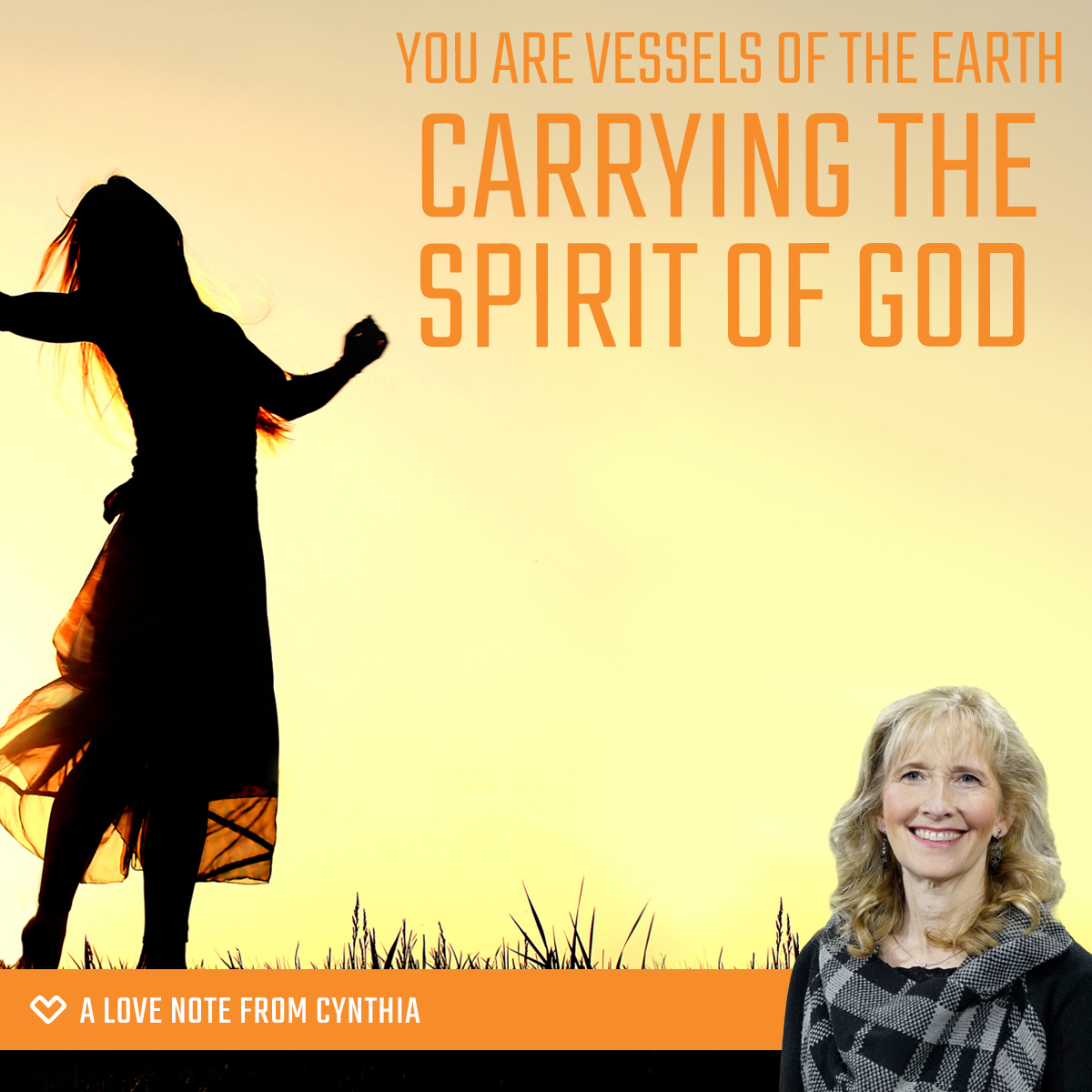 You are vessels of the earth carrying the Spirit of God in a dark, fallen, and blinded world.
