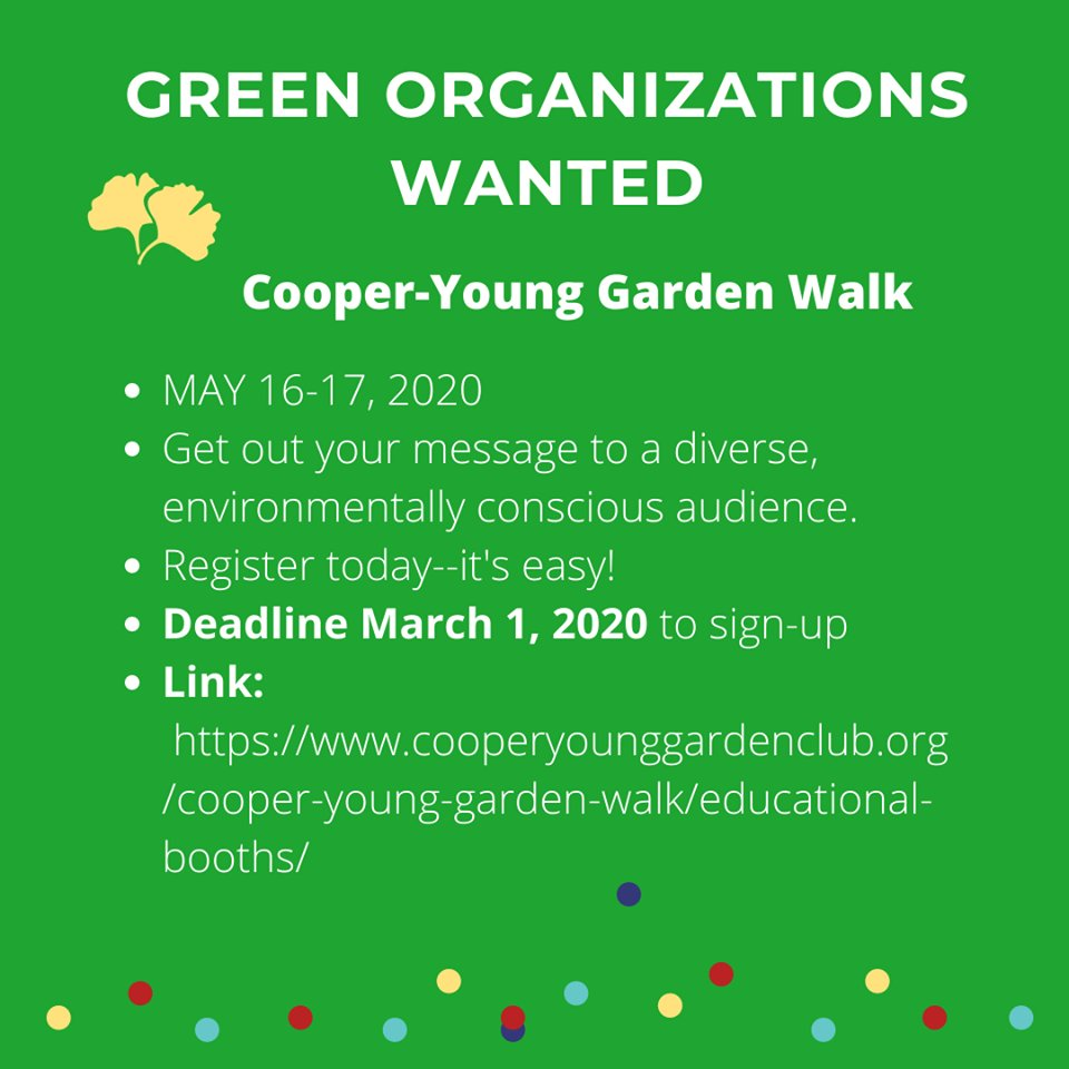 The @cooperyounggardenwalkmemphis is happening May 16-17 and they are accepting vendor sign-ups now!   Mark your calendars so you don't miss the most beautiful weekend of the year #cooperyoung #cooperyounggardenwalk #gogreen #garden #gardeningislifepic.twitter.com/mDRSDPXROB