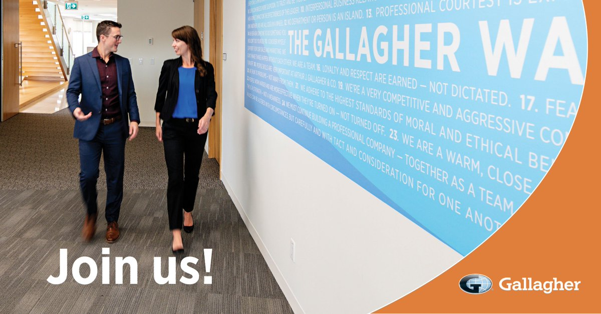Dear go-getters with entrepreneurial spirits and creative minds, we are hiring across Canada! #GallagherCanada bit.ly/387ugAE