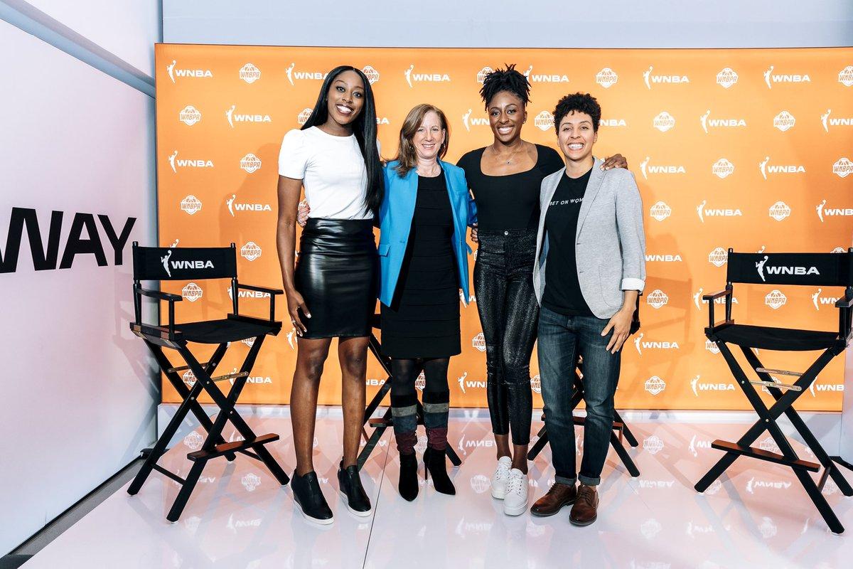 #BetOnWomen 👏 @TheWNBPA x @WNBA