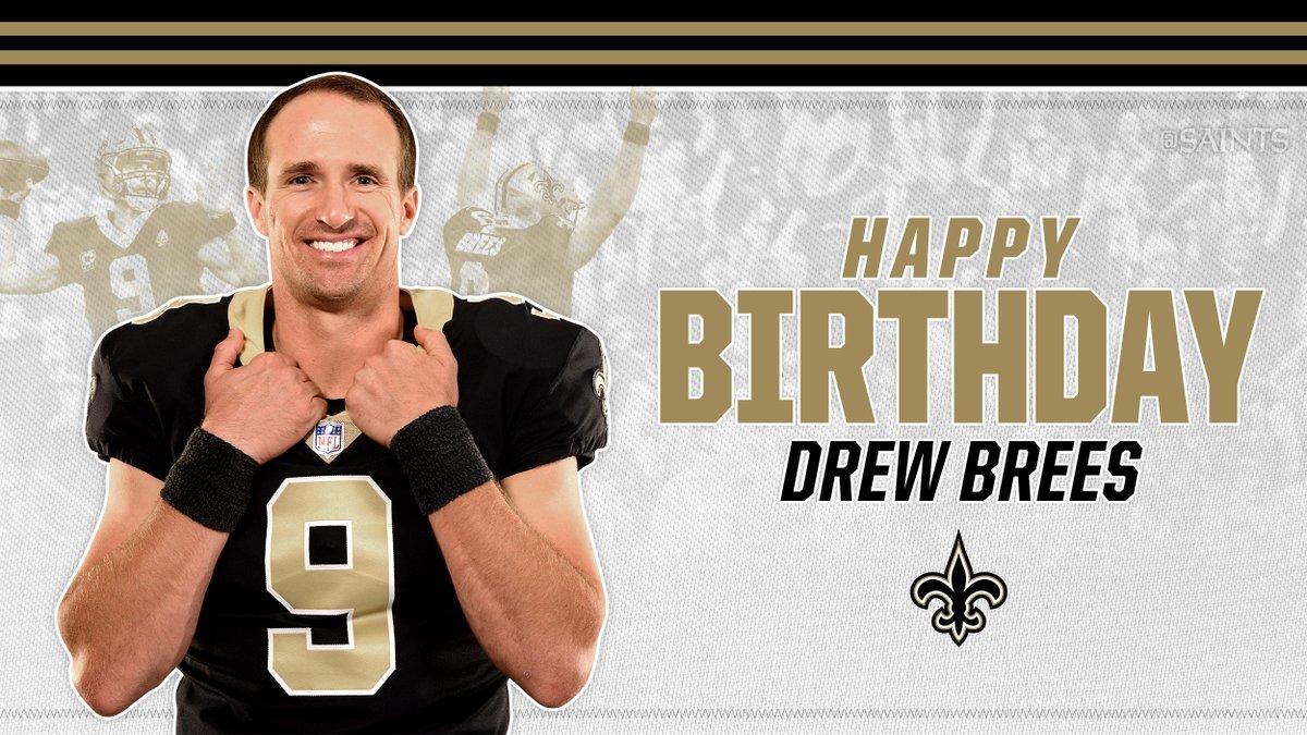 Happy 41st Birthday to @DrewBrees! #Saints