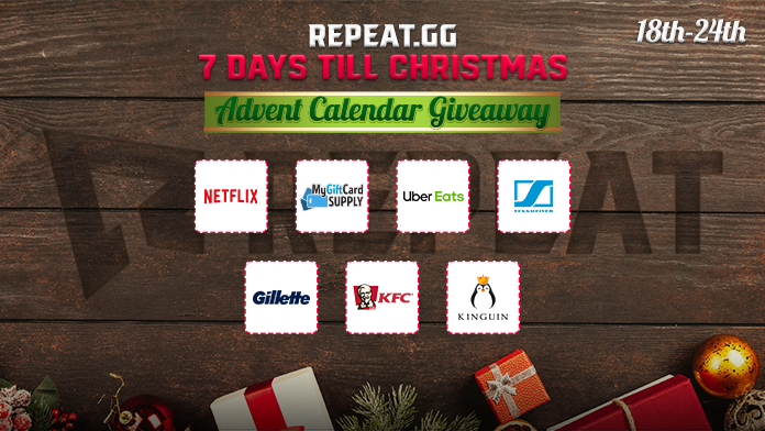 The Winners for all 8 Giveaways during the 7 Days Till Christmas Campaign is HERE  Check Winners In Link - https://bit.ly/2RfM19T  OVER 70 WINNERS ANNOUNCED!  Thank you to all those that entered and our partners for the giveaway @SennheiserGamer @usitunescard @KinguinNet @VastGG