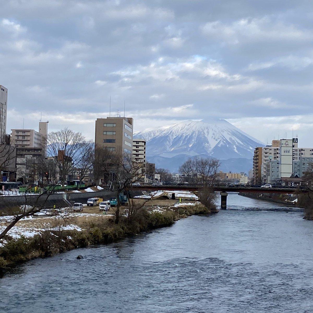 2020/01/15 盛岡市の開運橋から撮影。みなさま、体調管理に気をつけてお過ごしください。 #岩手 #盛岡 #北上川 #岩手においでよ #小正月
