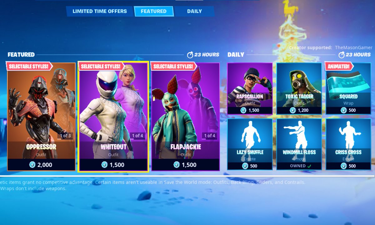 Today's Item Shop! (Jan 14, 2020). Oppressor is back! Use code TheMasonGamer if you wanna support me. Thanks! ———————————————— #themasongamer #EpicPartner #fortnite #fortnitebattleroyale #fortniteitemshop #itemshop #fortniteitemstore #fortniteitemshops #fortnitedailyshop #shoppic.twitter.com/g1TIWR9KlA