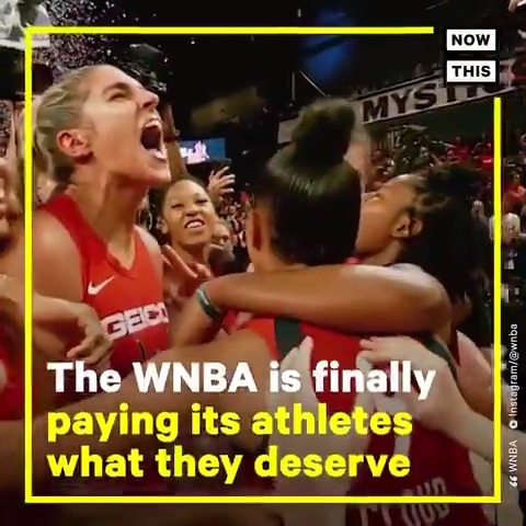 In an historic deal, the WNBA has agreed to triple salaries for 'top players,' as well as provide paid maternity leave and child care (In partnership with @TIMESUPNOW #TIMESUP)