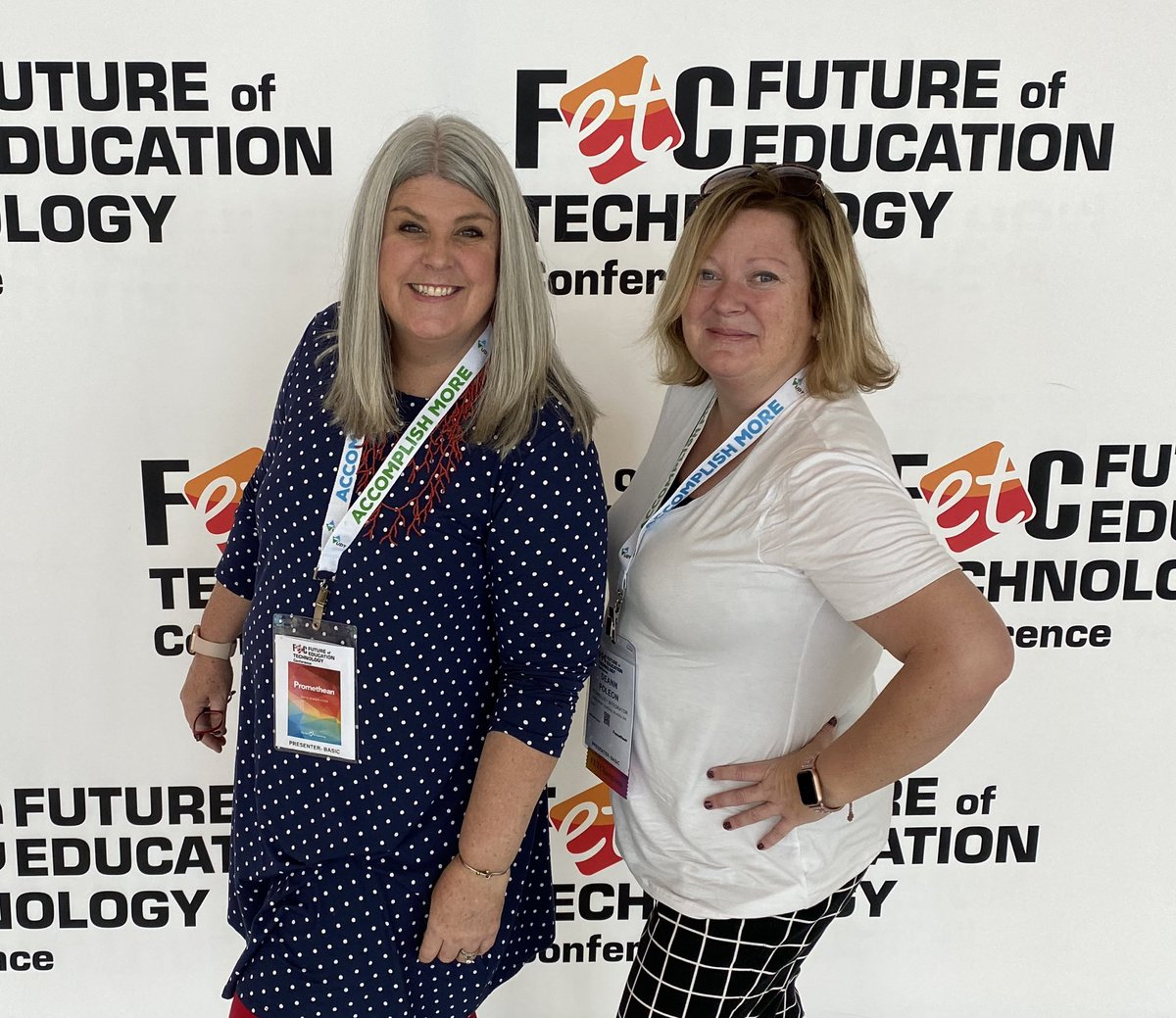 At @fetc this week with @DeannPoleon! #FETC