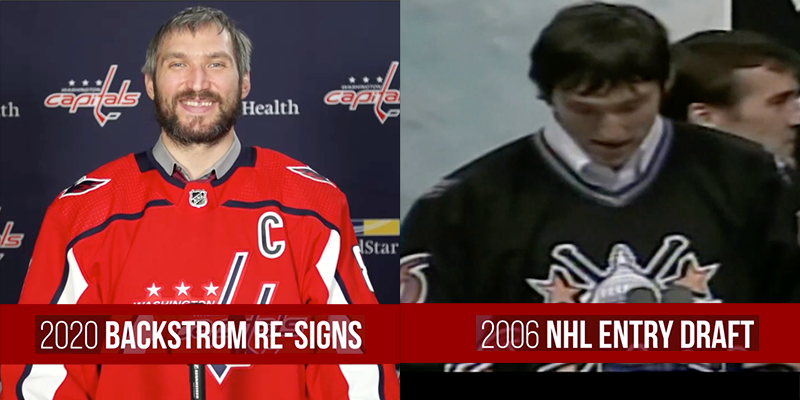 look at how happy this nerd looks recreating the moment he called Backstrom's name at the 2006 draft! <br>http://pic.twitter.com/kwlBMFKjXA