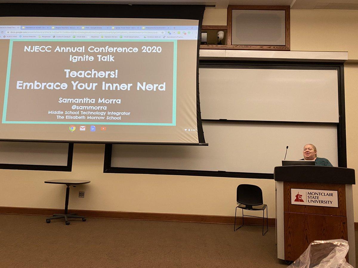 Embrace your inner nerd! Or is it geek?! @sammorra #njecc2020 <br>http://pic.twitter.com/o1vMgCFS8n
