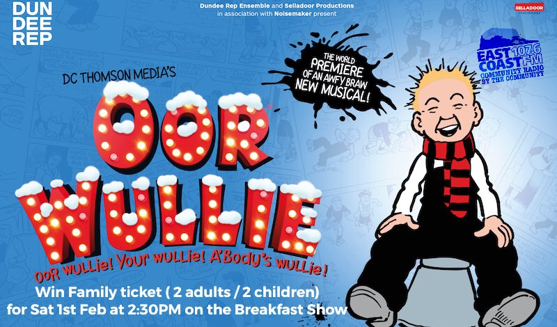 test Twitter Media - Fantastic competition starting this Thursday on the Breakfast show and every breakfast show until Friday 24th Jan. Win a family ticket to the Braw Oor Wullie Musical at @captheatres  Kings Theatre, Edinburgh.There will be a simple question to answer. So tune in from 7AM https://t.co/tGAvPHjmW6