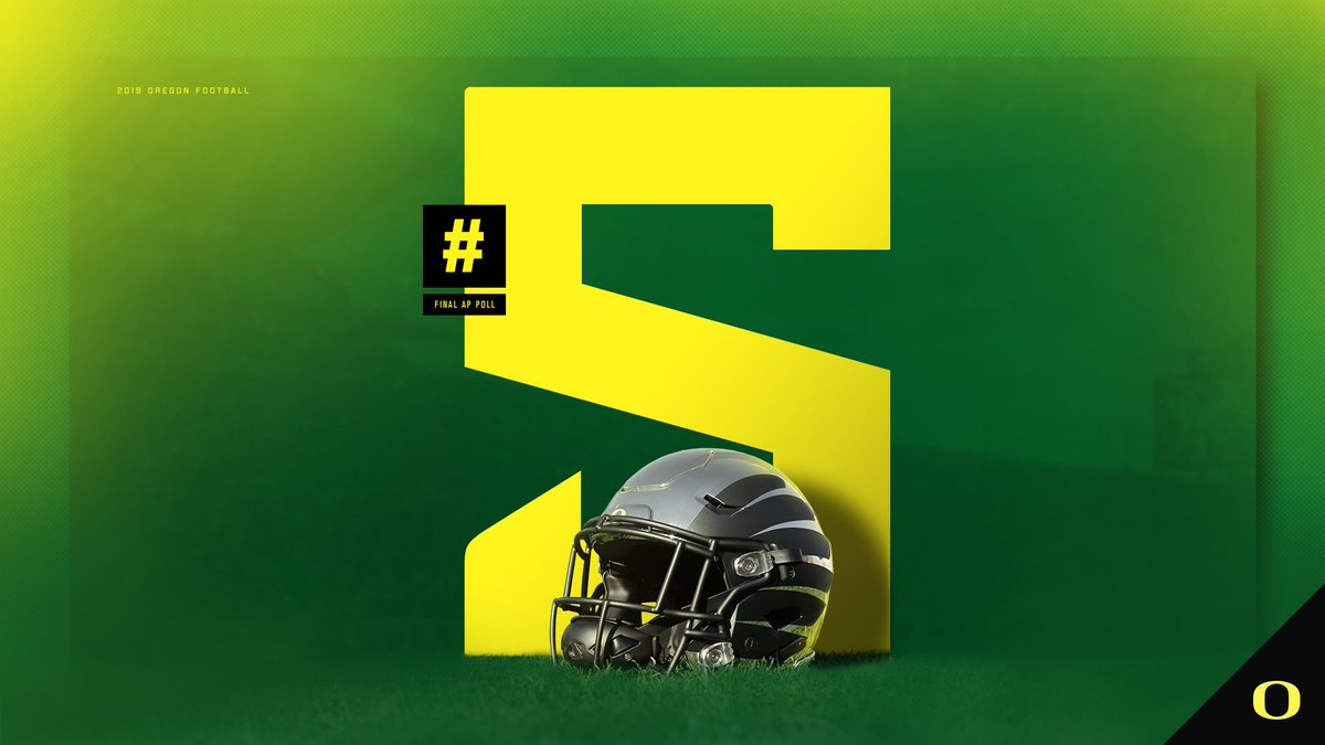Replying to @oregonfootball: One heck of a ride. Ducks claim the No. 5 spot in the final @AP_Top25. #GoDucks