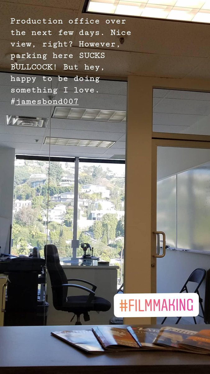 New office for this week. #filmmaking #filmmakinglife pic.twitter.com/pZG0DMeo1e