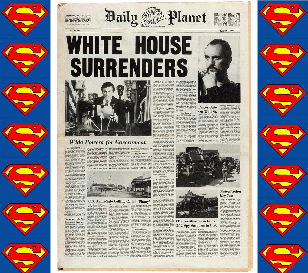 #Hakes229 Sneak Peek! @HakesAuctions' next sale includes this #movieprop #DailyPlanet #newspaper from #SupermanII! A must have for #SupermanFans! #DCComics #WarnerBros #Superman #ChristopherReeve #GeneralZod #TerenceStamp #movieprops #SupermanFans #KneeelBeforeZodpic.twitter.com/cMXLWUIjlF