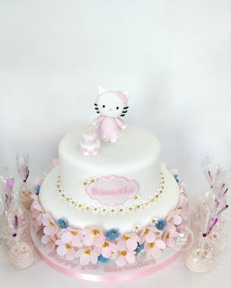 Prime Peas Bakery On Twitter 2 Tier Hello Kitty Birthday Cake With Personalised Birthday Cards Paralily Jamesorg