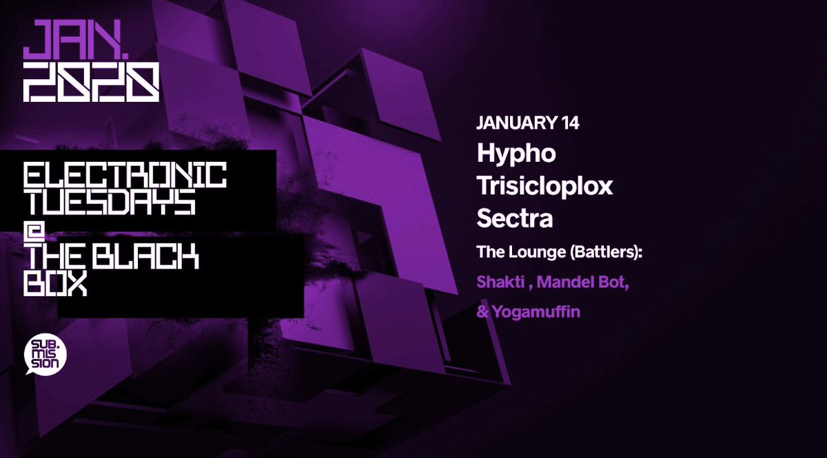 Tonight | @HyphoLouis @trisicloplox & @Sectra_ at @subdotmission #ElectronicTuesdays  🎟: https://t.co/bWfX0NIOB5 https://t.co/tuliqPDNEj