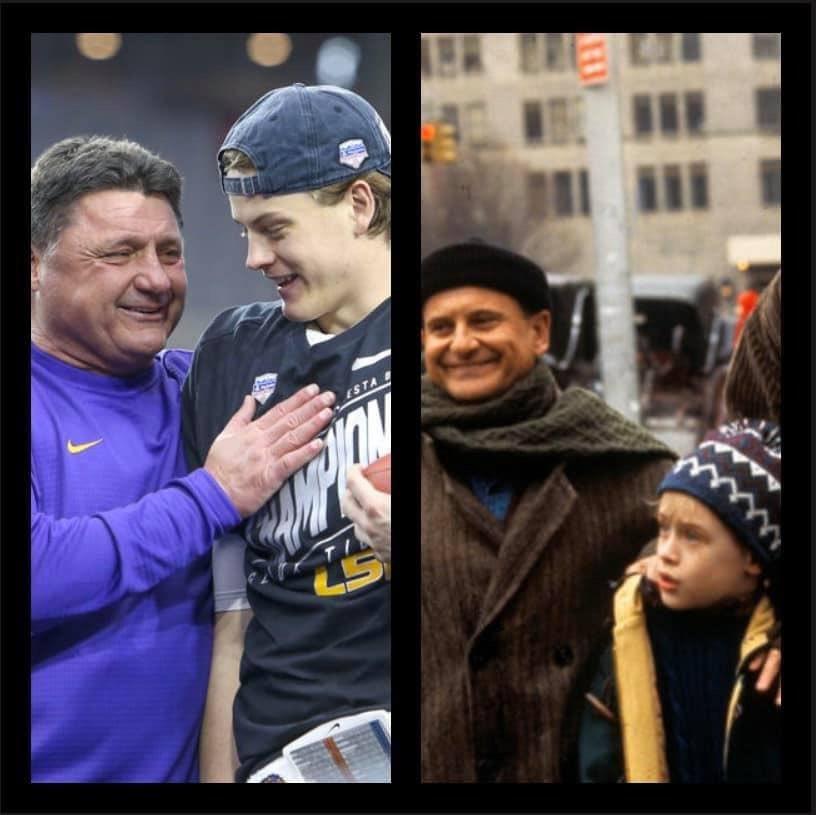 Former LSU Star Shares Hilarious Coach O-Joe Burrow Photo
