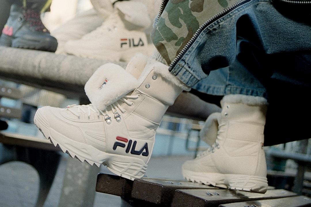 Toasty and fleeced. The #FILA Disruptor