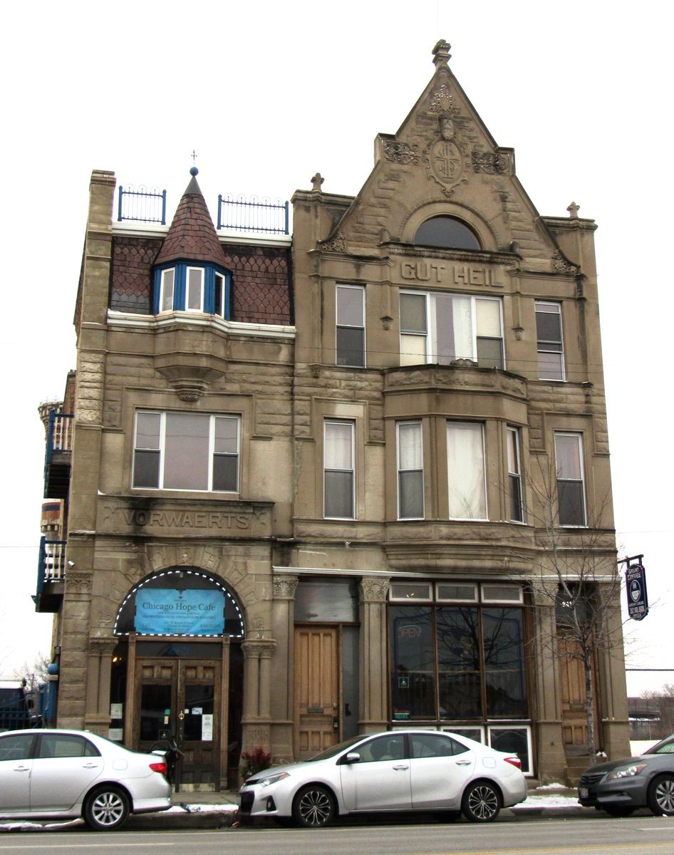 2431 W. Western Ave., Chicago. 1896. Turnverein Vorwaerts--fantastic article here: http://chicagopatterns.com/chicagos-forgotten-turner-halls-vorwaerts-turnverein/…pic.twitter.com/QF3VkmFIdT