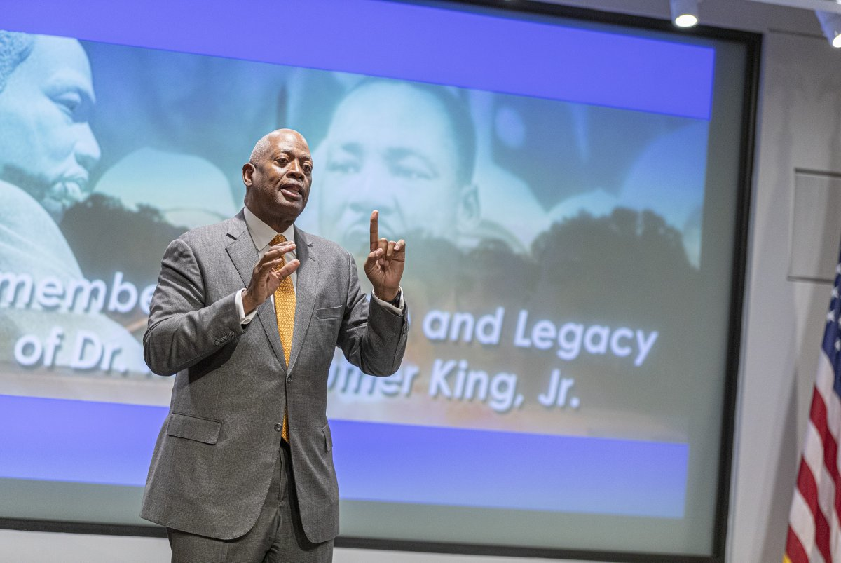 Today, the FBI hosted speaker Harry Johnson, president and CEO of the MLK National Memorial Project Foundation, to celebrate the life and legacy of Martin Luther King, Jr. Mr. Johnson works continuously to promote the MLK memorial, an integral part of new agent/analyst training.