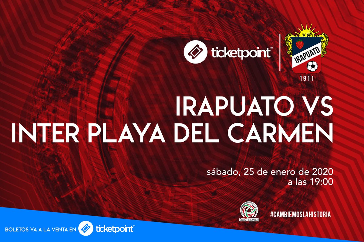 Irapuato vs Inter Playa del Carmen⚽️ 📅Sáb 25 de enero a las⏰19:00 hrs #EstadioSergioLeónChavez#Irapuato ¡No te lo pierdas! 🎟Boletos disponibles en taquillas del estadio! https://t.co/CxgiG4NqEy