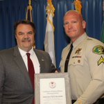 Image for the Tweet beginning: Press Release: Sheriff's Detective Receives