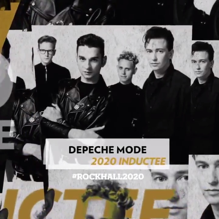 Congrats to @Klipschaudio #RockHall2020 Inductees @DepecheMode: a legendarily fearsome live act, with a foot in the underground and another in the club – but always with an eye on the future. Check out bios, special ticket access info, merch + more  http://rockhall.lnk.to/Depeche-ModeTw