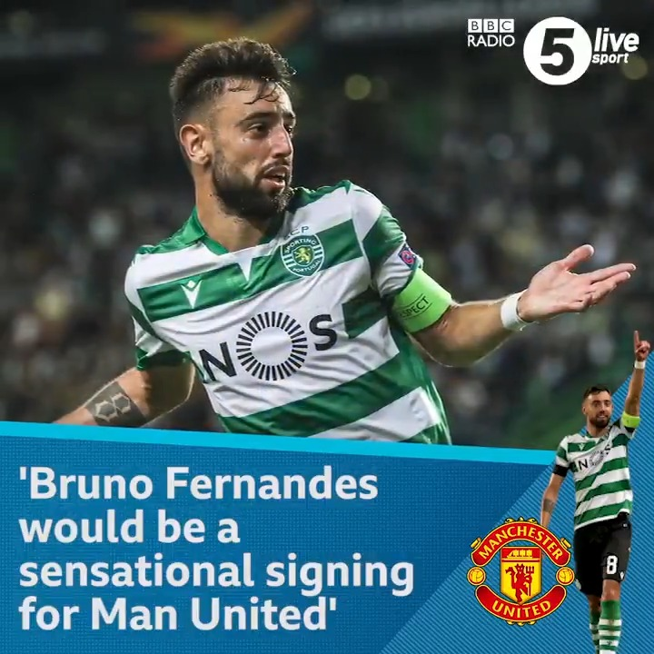 """'If people haven't seen Fernandes play before, you can liken him to Frank Lampard'🗣️@donhutch4 believes Bruno Fernandes would be a """"sensational signing"""" for Man United🆕 Football Daily 👇📲⚽️: http://bbc.in/35RPDEy#bbcfootball #MUFC"""
