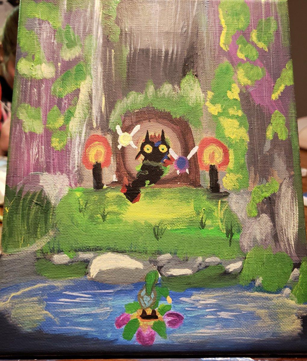 Paint night!  Majora's Mask. #loz #ArtistOnTwitter #gamingart #Nintendopic.twitter.com/ZMjey82y0D