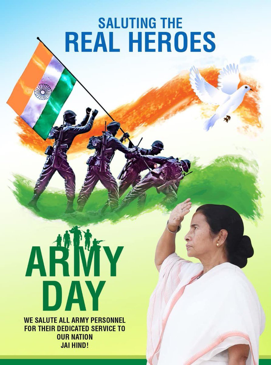 Today is #ArmyDay. On this occasion, I salute our brave soldiers who have dedicated their lives to the service of the nation. Let us also remember the martyrs and give their families the strength to cope with their loss. Jai Hind