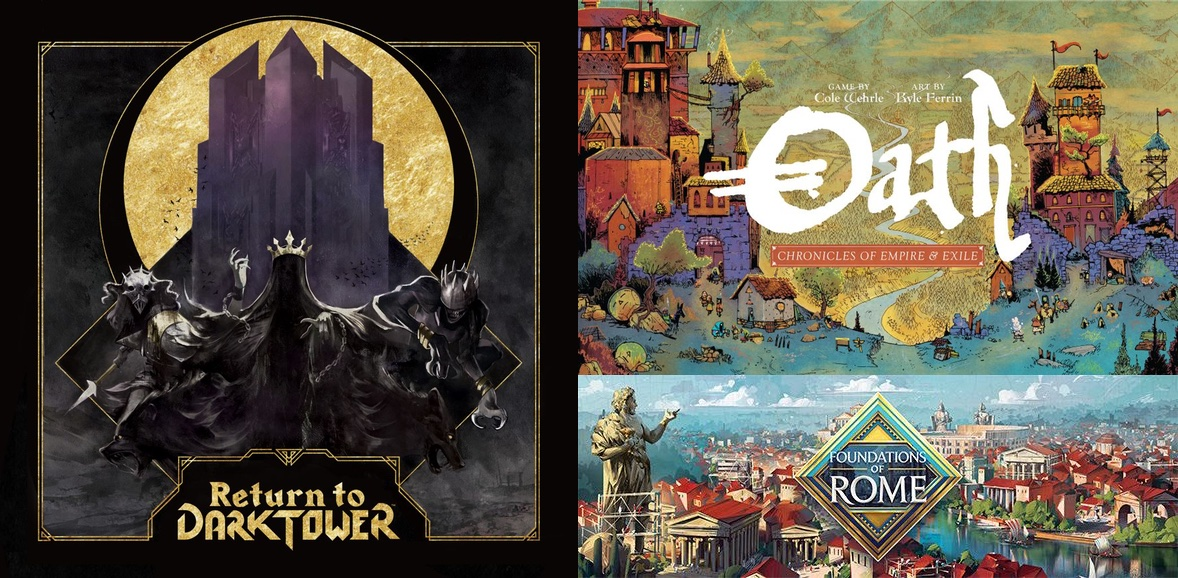 $2,090,000 — amount of support (so far!) for three Kickstarter projects that launched on Jan. 14, 2020, with Return to Dark Tower collecting $1,425,000, Oath: Chronicles of Empire and Exile $500,000, and Foundations of Rome $165,000. Amazing... —WEM <br>http://pic.twitter.com/haP3Ejcow9