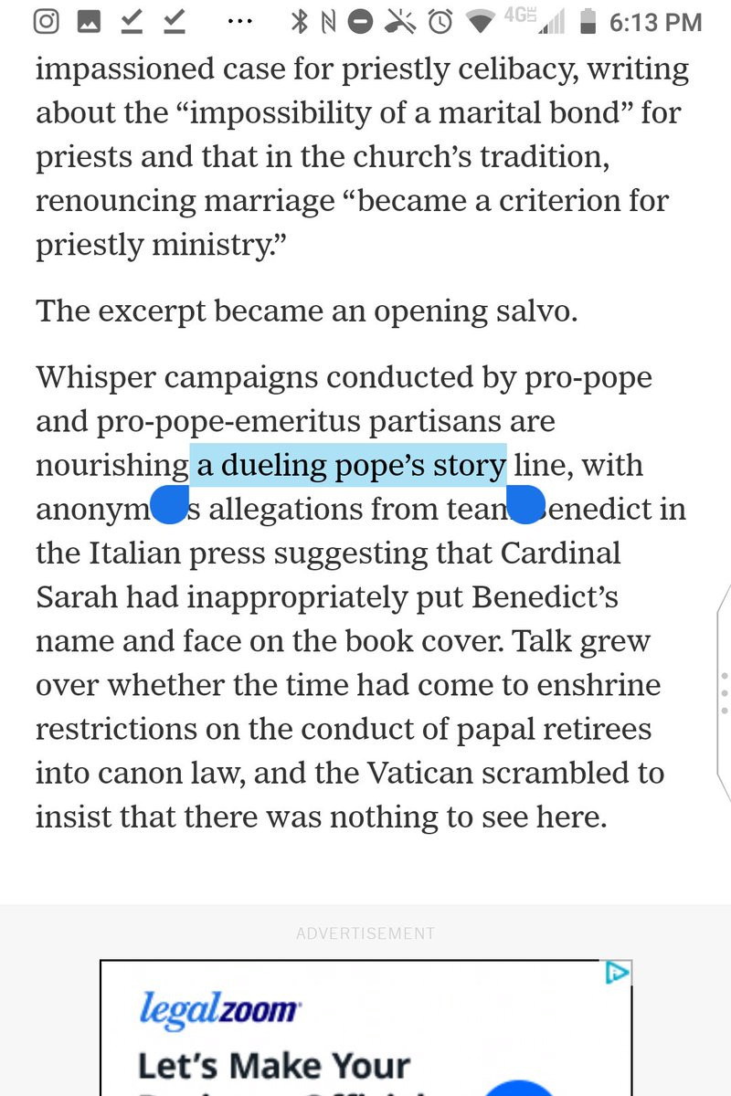 "@nytimes ""a dueling pope's story line"" should be ""a dueling popes' story line.""  The story line is one of dueling popes, not one of a single dueling pope.  @jasondhorowitz @EPovoledo https://t.co/hqH2DmNVDW"