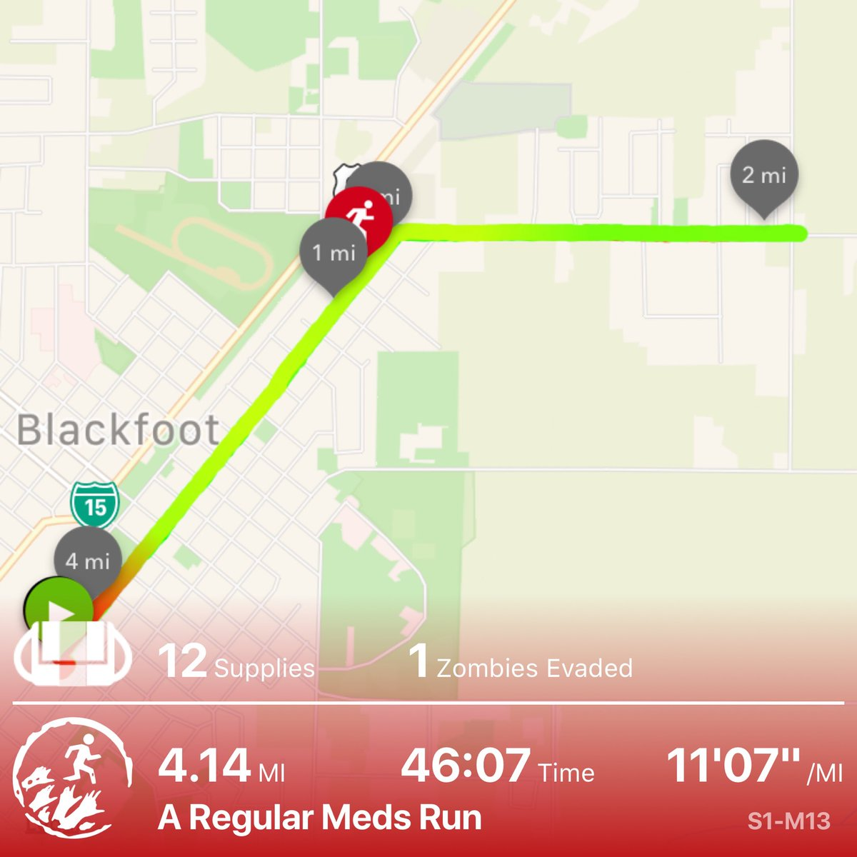 Almost cornered in a research facility by massive zombie mob. Only just made it out #zombiesrun <br>http://pic.twitter.com/zfh6XThEpz