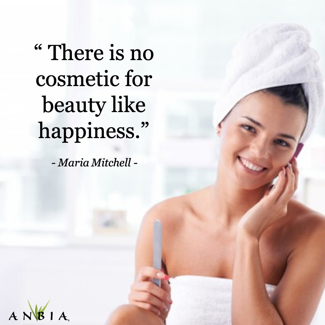 Be happy and take care of yourself!  At Anbia® we're with you every step of the way .  #AnbiaSkin #MariaMitchell #QuoteMotivation #HealthySkin #SkinCare #OrganicSkincareProducts #CertifiedOrganic #BeHappypic.twitter.com/7Odqf4FcGS